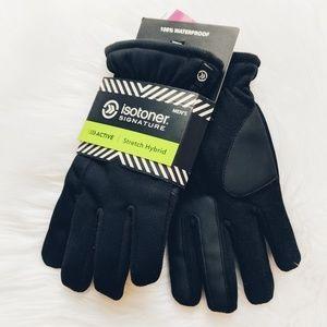 Isotoner Men's Signature Stretch Hybrid Gloves M/L
